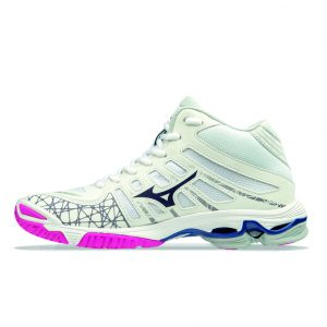 Wave voltage mid - bianco-fucsia